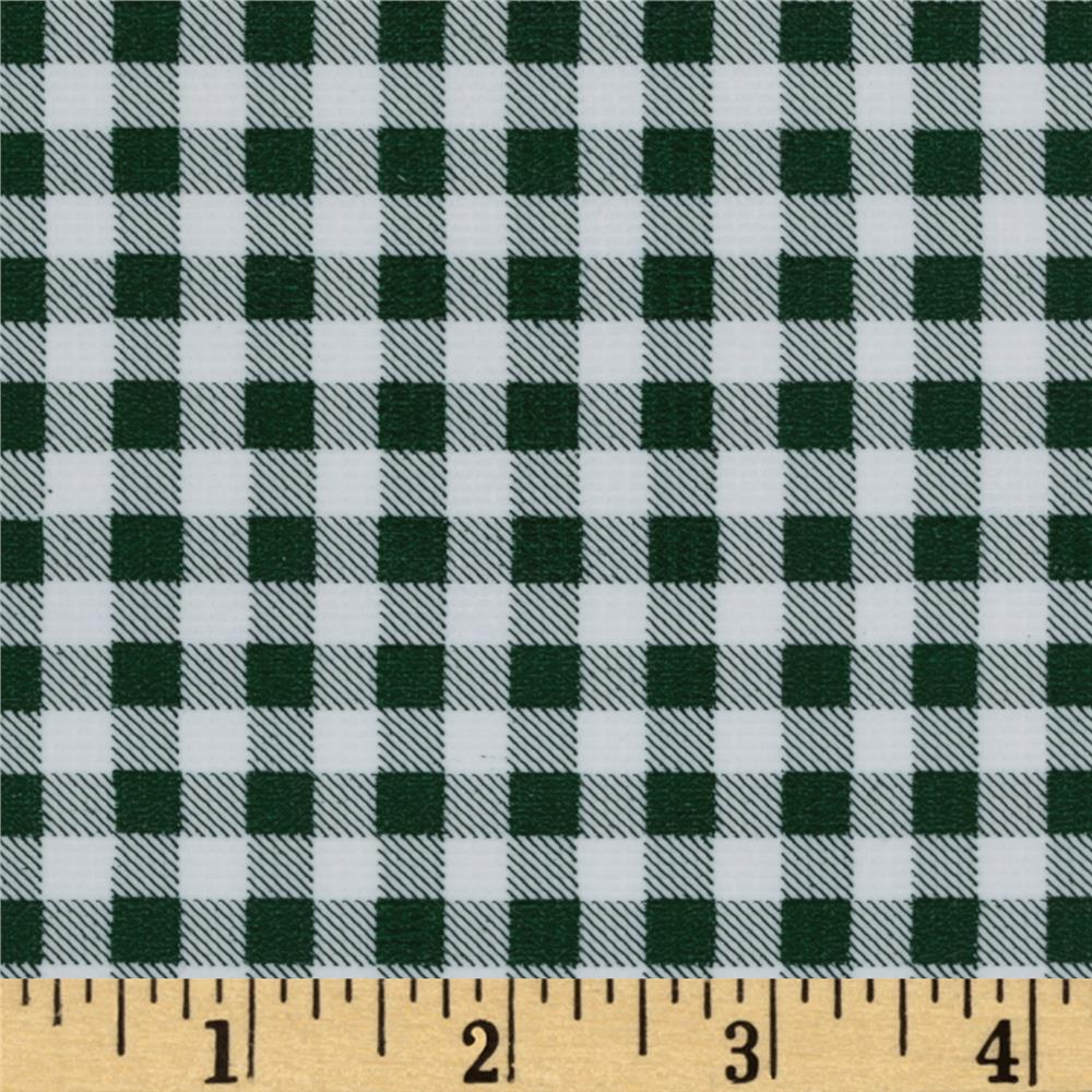 Oil Cloth Gingham Bottle Green
