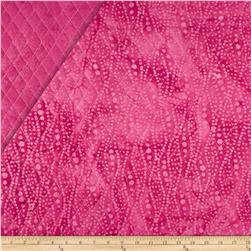 Indian Batik Double Sided Quilted Small Vertical Dots Fuchsia
