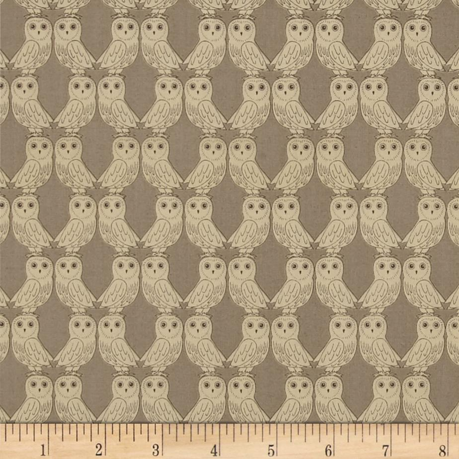 Enchanted Forest Owls Grey
