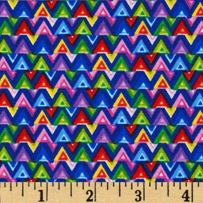Timeless Treasures Small Triangles Multi