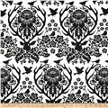 Joel Dewberry Birch Farm Antler Damask Black