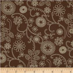 110'' Wide Quilt Back Signature Brown Fabric