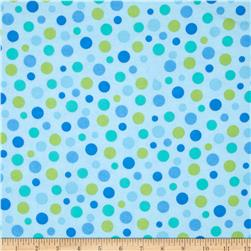 Comfy Flannel Large Dots Aqua