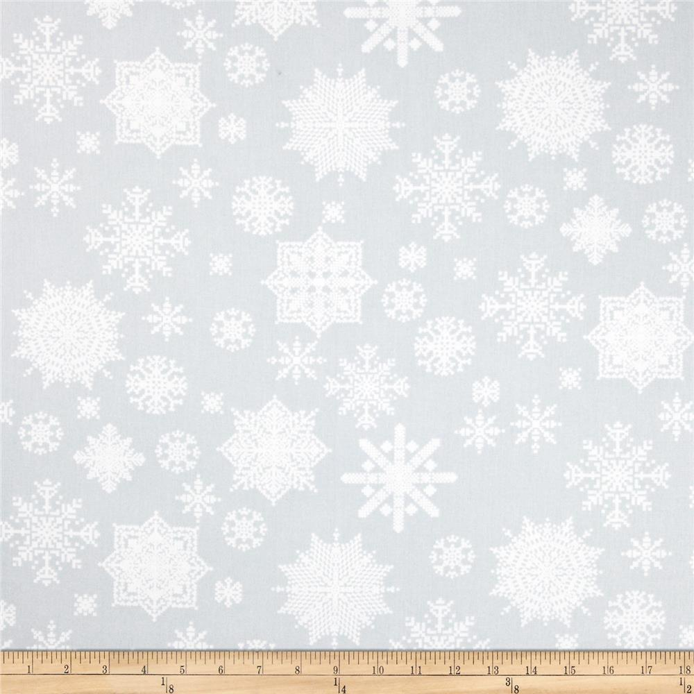 Winter Essentials II Snowflake Grey