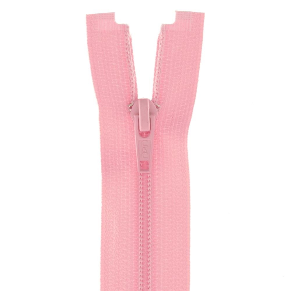 "Coats & Clark Coil Separating Zipper 12"" Light Pink"