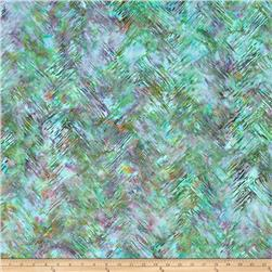 Bali Batiks Handpaints Chevron Brush Opal