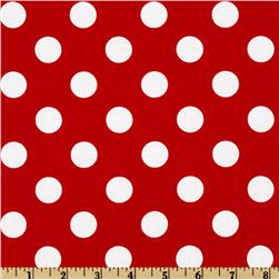 Riley Blake Dots Medium Red Fabric