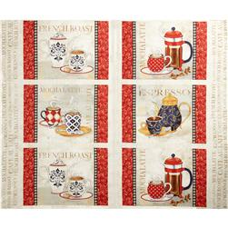 "Le Petit Bistro Placemat 24"" Panel Cream"