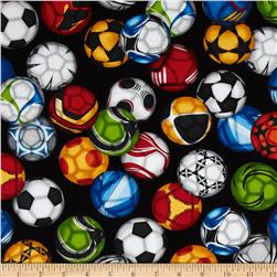 Sports Life Soccer Balls Black Fabric