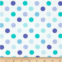Moda Grow Full Bloom Dots Cloud Blues