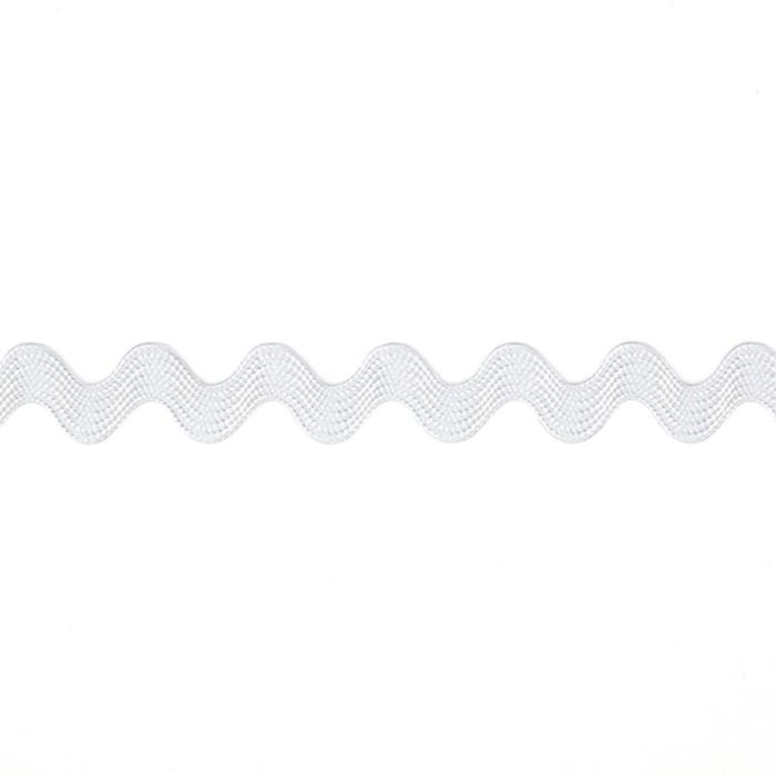 "1/2"" Ric Rac Rayon Medium Trim White"