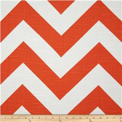 Premier Prints Zippy Chevron Slub Tangelo Fabric