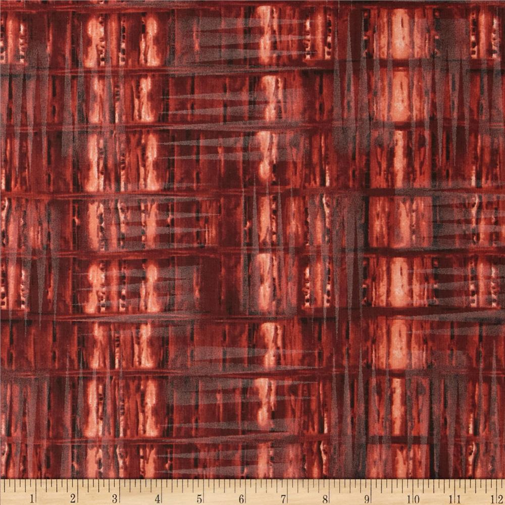 Timeless Treasures Judy Niemeyer's Reclaimed West Weathered Wood Bright Rust
