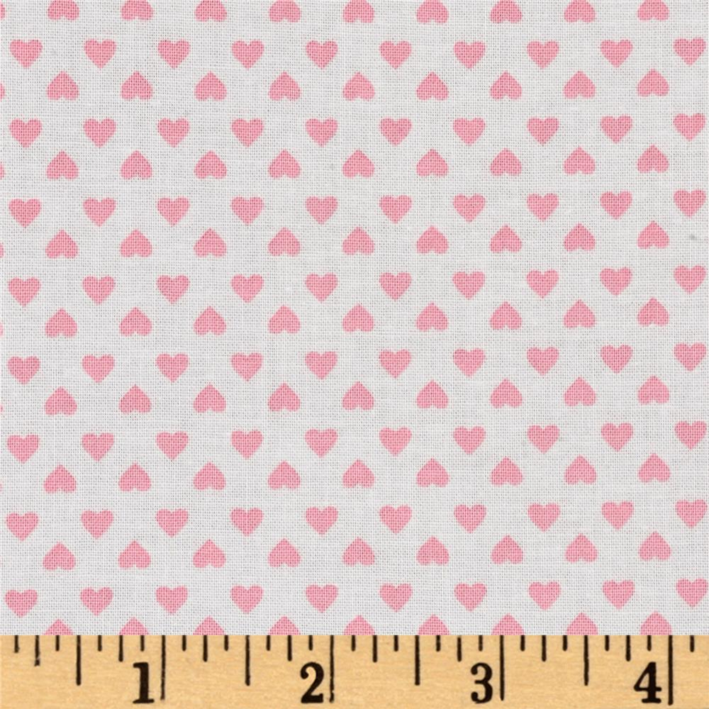 Kaufman Sevenberry Classiques Small Hearts Baby Pink