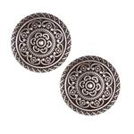 Metal Button 1'' Cordes Antique Silver