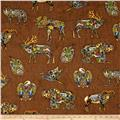 Kaufman Animal Spirits 2 Metallics Wildllife Modern Earth