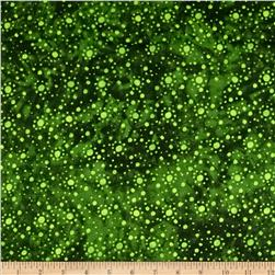 108'' Wide Essentials Quilt Backing Dot Burst Green