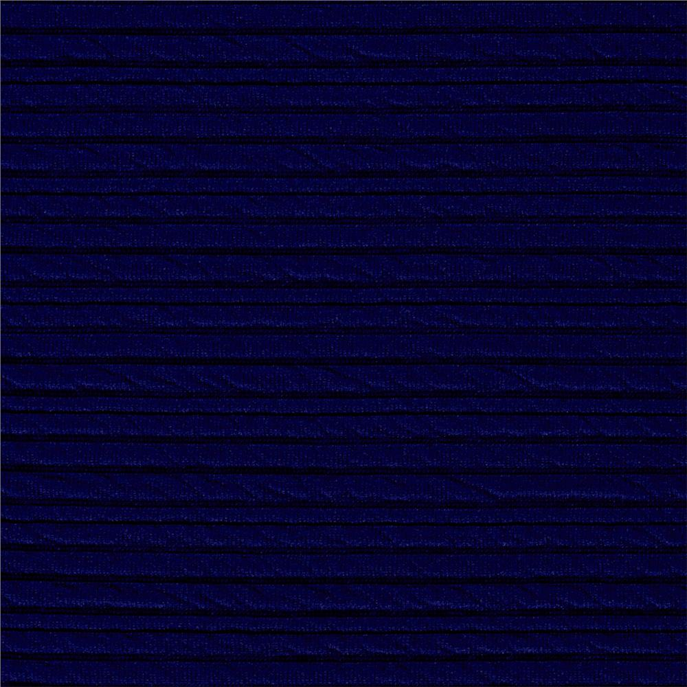 Ottoman Double Knit Solid Liberty Blue