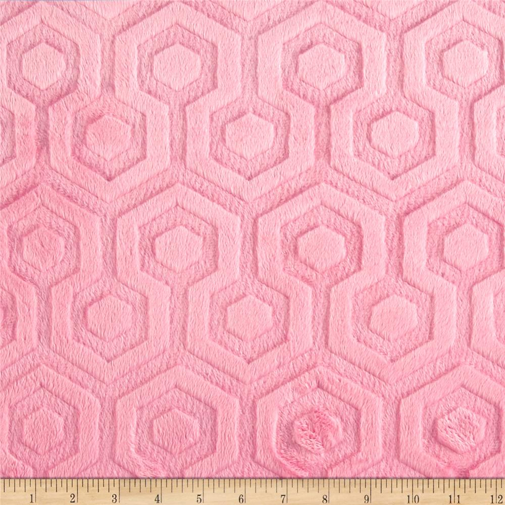 Premier Prints Embossed Geo Cuddle Paris Pink