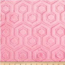 Premier Prints Embossed Geo Cuddle Paris Pink Fabric