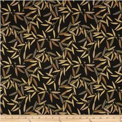 Asuka Metallic Wheat Leaves Onyx/Gold