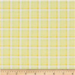 Kanvas Bunny Hop Soft Plaid Lemon