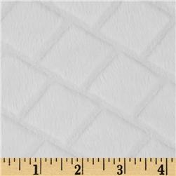 Minky Embossed Diamond Cuddle White