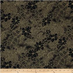 Moda Let it Glow Metallic Poinsettia Ebony