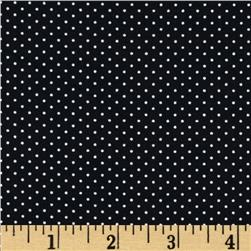 Morocco Blues Stretch Poplin Pindot Ebony/White