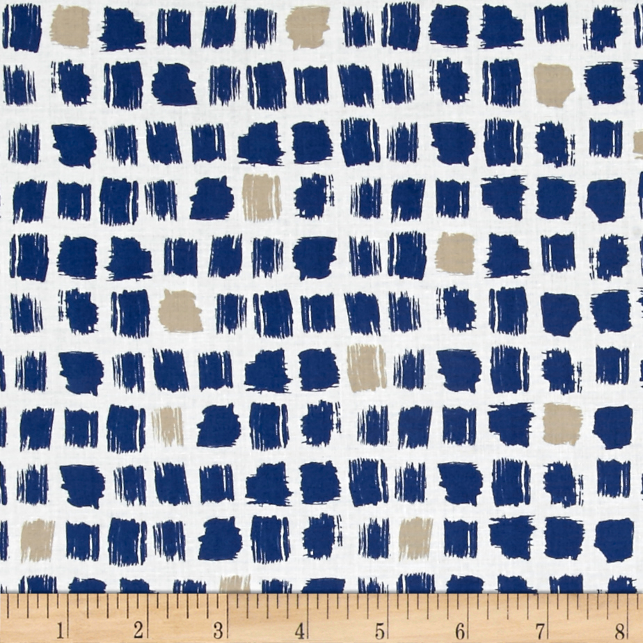 Cloud 9 Organic Around the Block Pocket Patch Navy Fabric by Cloud 9 in USA