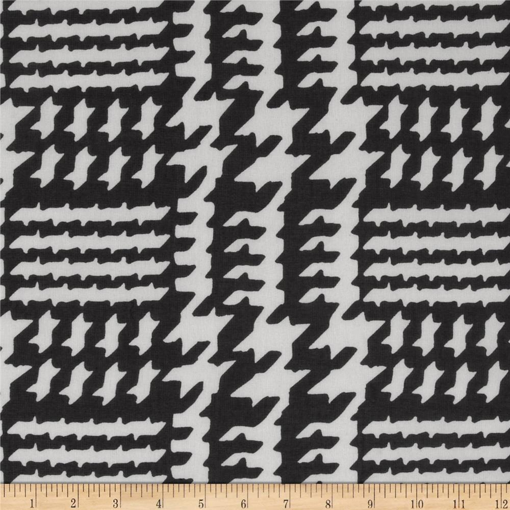 Chiffon Glen Houndstooth Black/White