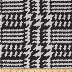 Chiffon Glen Houndstooth Black/White Fabric