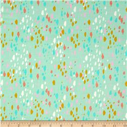 Cotton + Steel Lawn Stampede Teal