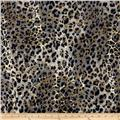 Safari Shimmer Stretch ITY Knit Cheetah Black/Grey/Gold