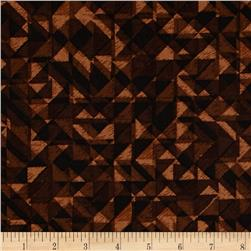 108 In. Quilt Wide Back Prisms Brown