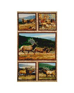 Breaking Light Elk 24 In. Panel Multi