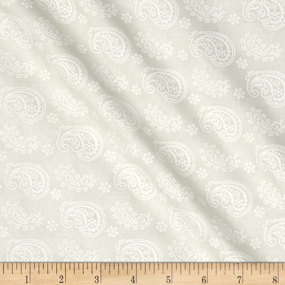 Essentials Cookie Dough Paisley Toss Cream Fabric by MM Fab in USA