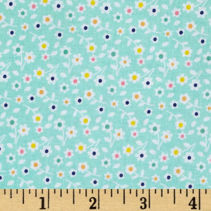 Riley Blake A Beautiful Thing Floral Blue