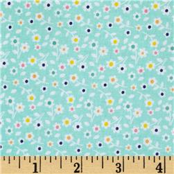 Riley Blake A Beautiful Thing Floral Blue Fabric