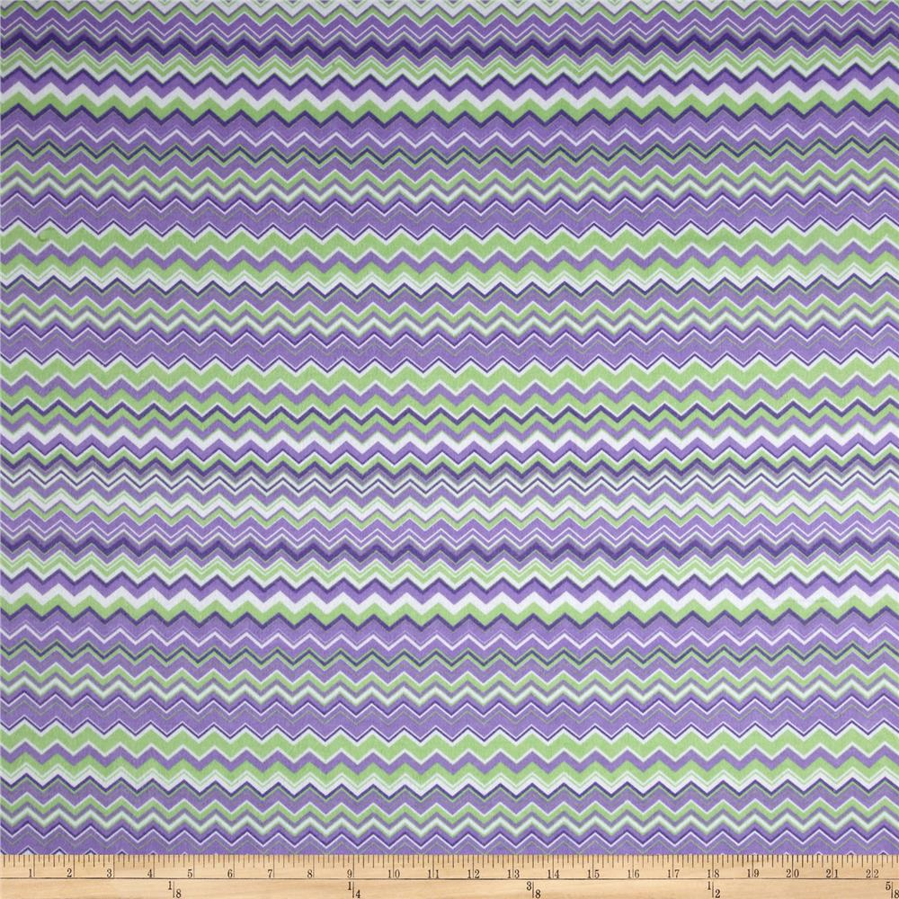Chevron Flannel Purple/Green