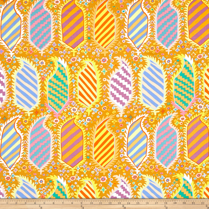 Kaffe Fassett Collective Striped Herald Gold Fabric