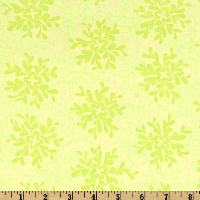 Valori Wells Nest Cotton Voile Leaves Lime