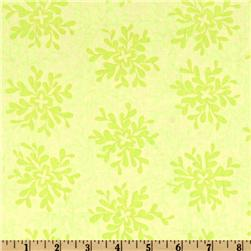 Valori Wells Nest Cotton Voile Leaves Lime Fabric