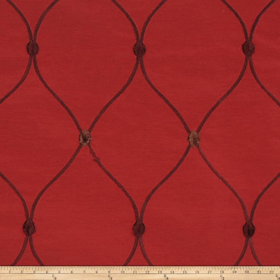 Fabricut Rockaway Lattice Taffeta Wine