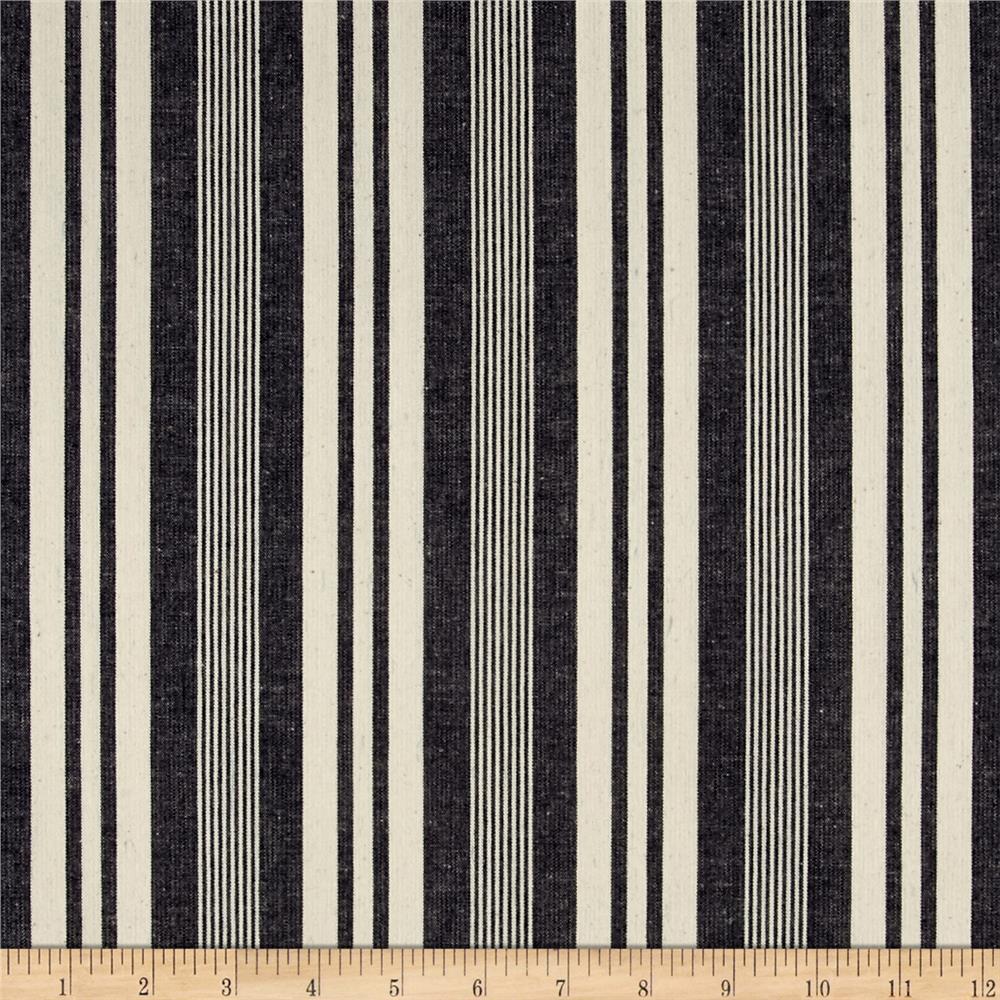 Kaufman Railroad Denim Stripe Variety