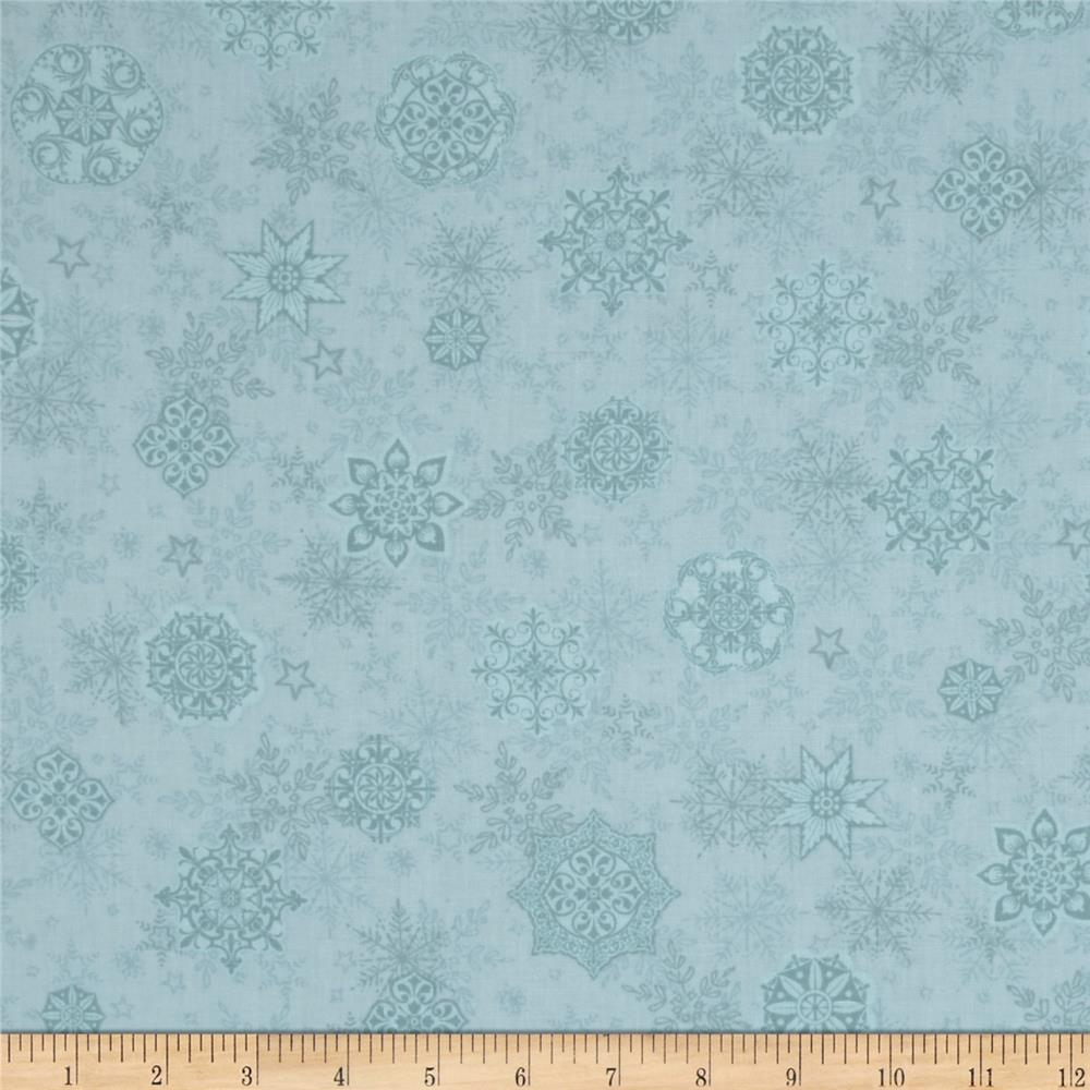 Holiday Cheer Snowflakes Blue