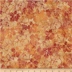 Bali Batiks Dotty Leaves Sahara