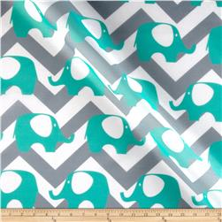 RCA Ella Chevron Sheers Aqua Mist/Grey