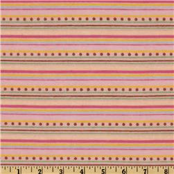 Hip Hoppity Flannel Stripes Across Pink