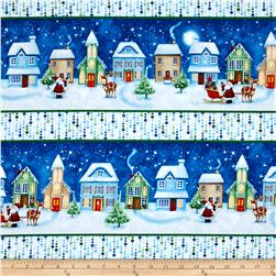 Christmas Village Repeating Stripe Multi